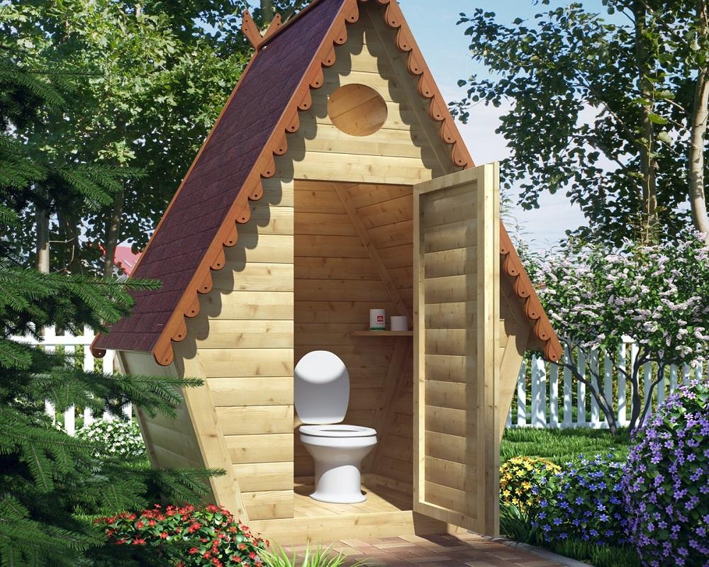 Теплый дачный туалет